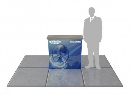1x1 Tension Fabric Pop Up Counter