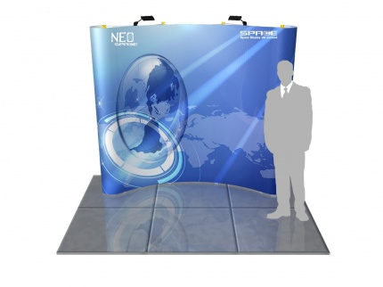 NEO 3x3 Curved Pop Up Display System