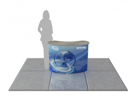 MESA 2x2 Curved Pop Up Counter